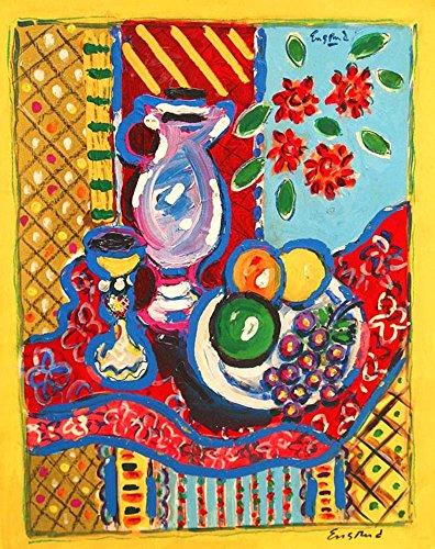 Still Life with Carafe and Fruit (Blue Fine Carafe)