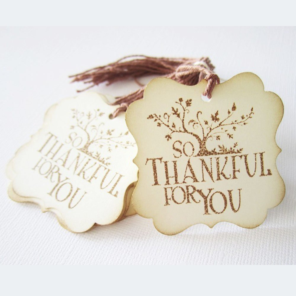 Amazon.com: So Thankful For You Gift Tags - Wedding Thanksgiving ...
