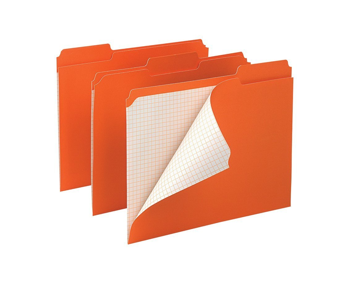 Pendaflex Color Reinforced Top File Folders, Letter Size, Orange, 100 Per Box (R152 1/3 ORA) 2-Pack