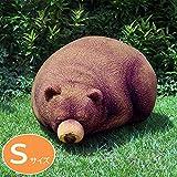 まったりまどろみ中のくまさんのアニマルフロアクッションスツール スモール(Chic Sin Design チック シン デザイン) インテリア 日用雑貨 雑貨 家具 ソファ クッション くま ビーズクッション ぬいぐるみ 座布団 寝具 小物 置物 ユニーク オブジェ 手芸 スリーピンググリズリーベア Small Sleeping Grizzly Bear Beanbag