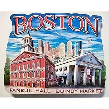 Boston Massachusetts Montage Artwood Fridge Magnet