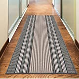 """NEW GREY SILVER ANTHRACITE COLORFUL MODERN WASHABLE NON SLIP KITCHEN UTILITY HALL LONG RUNNER DOOR MAT RUG (5 SIZES AVAILABLE) (80x150cm (2'6""""x5'))"""