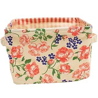 Clothes Toy Storage Basket Makeup Organiger Desktop Sundries Organiger Flower