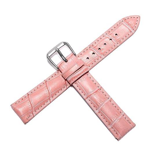 Bandas clásicas Genuino del Reloj Superior del Cuero de Becerro de Australia del Cuero del Reloj de la Correa de 12 mm 14 mm 16 mm 20 mm 18 mm para Hombres ...