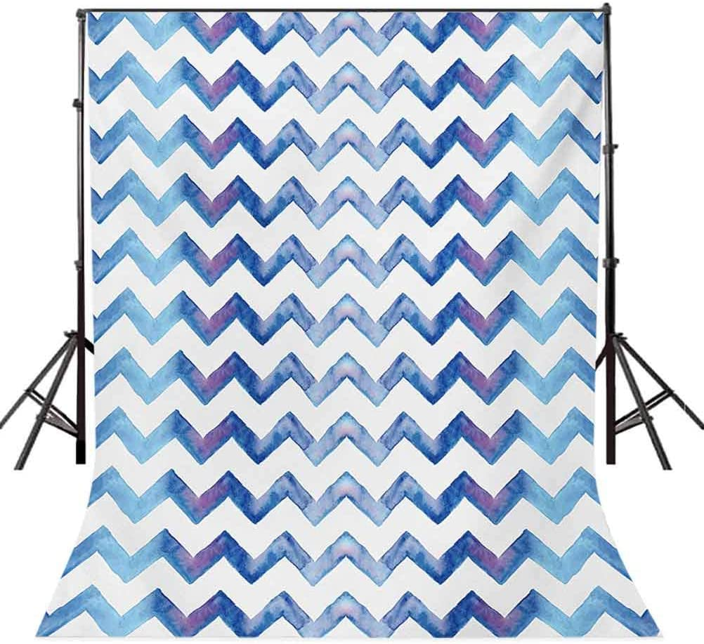 10x15 FT Backdrop Photographers,Watercolors Style Chevron Pattern Minimalist Authentic Shapes Constant Angles Background for Baby Shower Birthday Wedding Bridal Shower Party Decoration Photo Studio