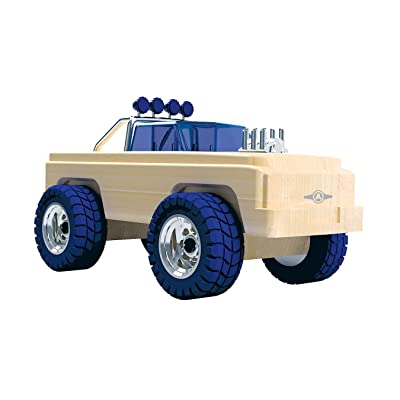 Automoblox Collectible Wood Toy Cars and Trucks—Ultimate MT1 Brawler (Compatible with Other Ultimate Series Vehicles) (54109): Toys & Games