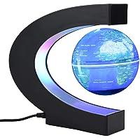 Garosa Globo Flotante Levitación Magnética Lámpara de Escritorio Luces LED c Forma Mapamundi Educativo para Niños Adultos Decoración del Escritorio de La Oficina En El Hogar