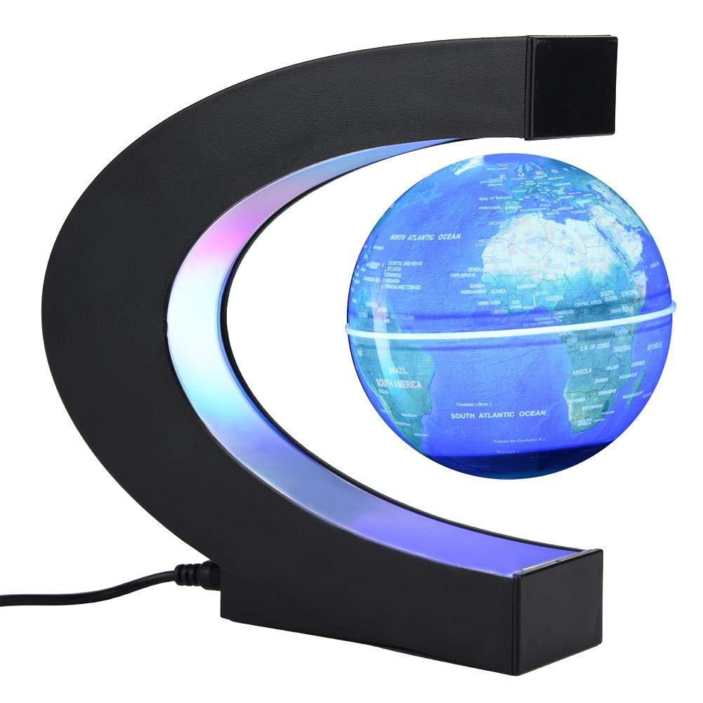 globo c levitazione magnetica  3 Pollici C Forma Globo Galleggiante Levitazione Magnetica Lampada ...