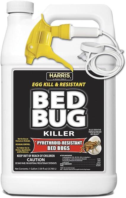 Amazon Com Harris Bed Bug Killer Toughest Liquid Spray With Odorless And Non Staining Extended Residual Kill Formula Gallon Garden Outdoor