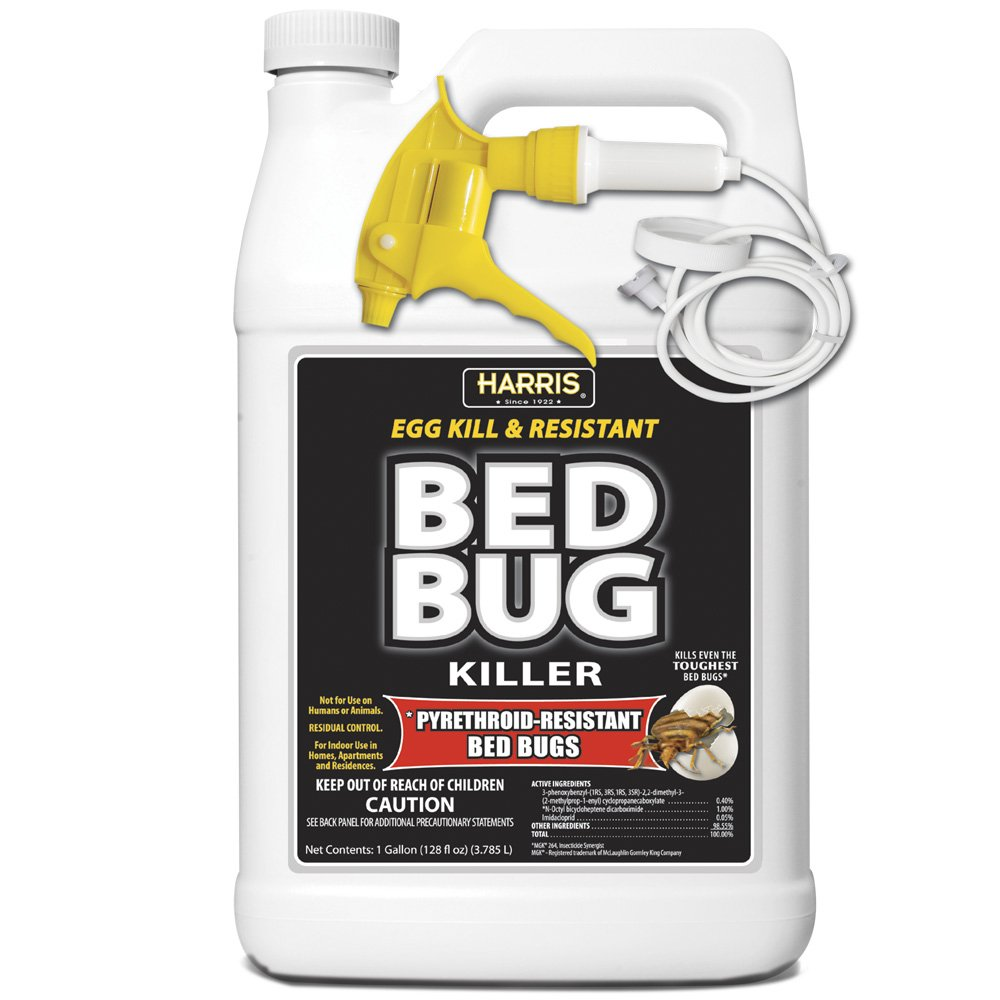 Bed Bug Killer by Harris, Toughest Liquid Spray with Odorless and Non-Staining Extended Residual Kill Formula (Gallon)