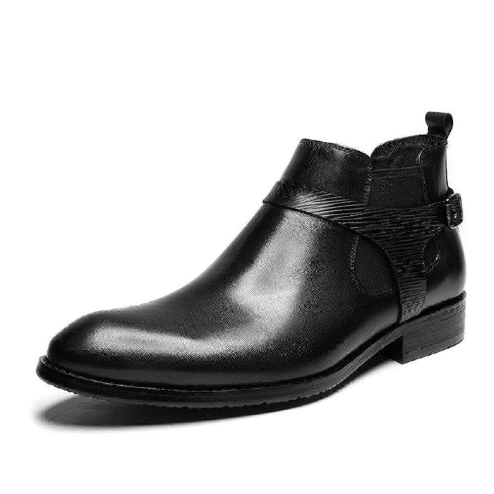 LYZGF Männer Jugend Business Casual Fashion Gentleman Martin Stiefel