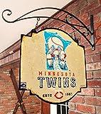 MLB Minnesota Twins Tavern Sign, One Size, Black