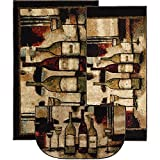 Mohawk Home New Wave Wine And Glasses Brown (Set Contains: 20 x 45, 30 x 46 and 18 x 30 Slice)