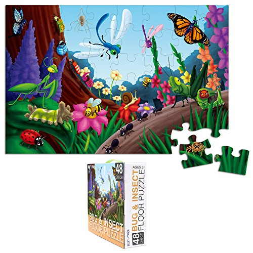 Floor Puzzles – 48 Piece Giant Floor Puzzle, Bug and Insec