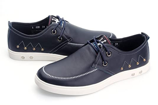 TDA Men's Fashion Comfort Lace-up Blue Leather Driving Casual Shoes 9 M US:  Amazon.ca: Shoes & Handbags