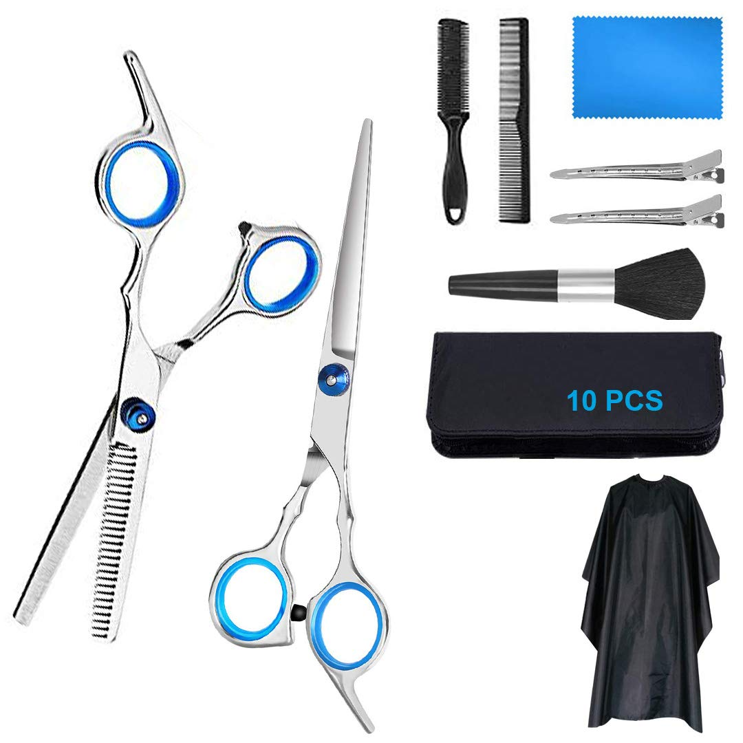 Hair Cutting Scissors Set Hairdressing Scissors Kit 6.7 Inch 9 Pcs Japanese Stainless Haircutting Scissors Set For Men And Women