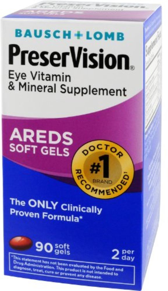 Bausch & Lomb PreserVision AREDS Soft Gels, 90 ea (Pack of 6)