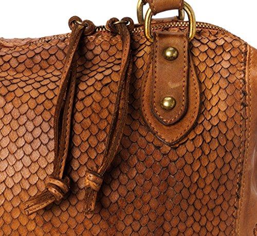 Cheyenne Valle Cognac In Vintage Ira Made cognac Pelle Modello Vera Borsa Donna Del Italy SqxBU4