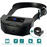 [Newest 2019] Bark Collar Upgraded Microprocessor Barking Detection - Best No Bark Device w/ 3 Extra Batteries - Beep, Vibration, Shock for Small, Medium, Large Dogs All Breeds Up to 120 LBS