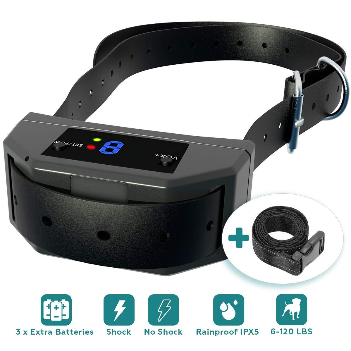 TBI Pro [Newest 2018 Upgraded] Bark Collar w/Upgraded Smart Chip - Best Dog Anti-Barking Collar, Beep/Shock Mode. No Bark Device