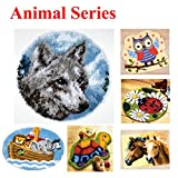 18 Model Animal Latch Hook Kit Rug Animal 401 20 by 20 Inch
