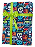 Skull Totem Reversible Rolled Gift Wrapping Paper - 24'' x 15'
