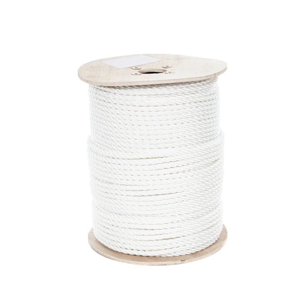 White Rot UV Moisture Truck Rope Crafts - String Line Oil and Chemical Resistant Golberg Twisted Polyester Rope 1//2 Inch, 25 Feet High Strength Rigging Low Stretch Winch