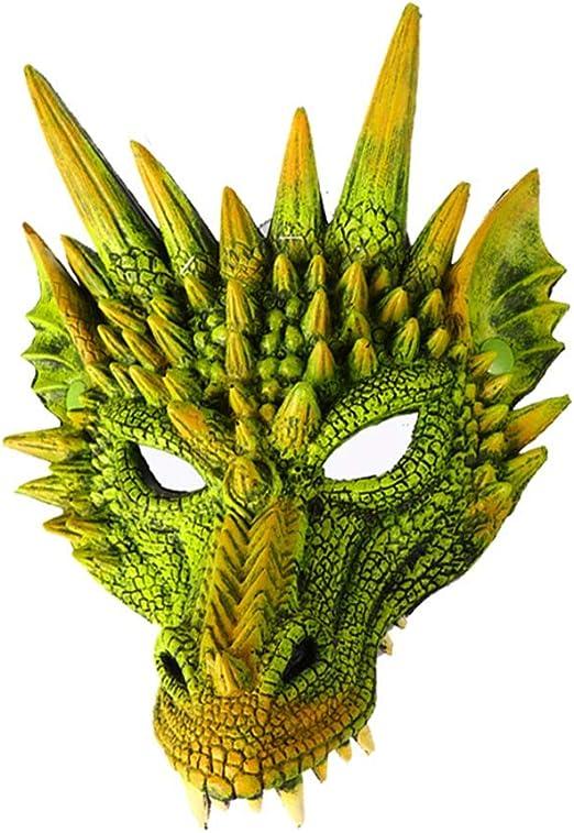 Fishyu Halloween Máscara 3D Dragón Cosplay Disfraz para Hombres ...
