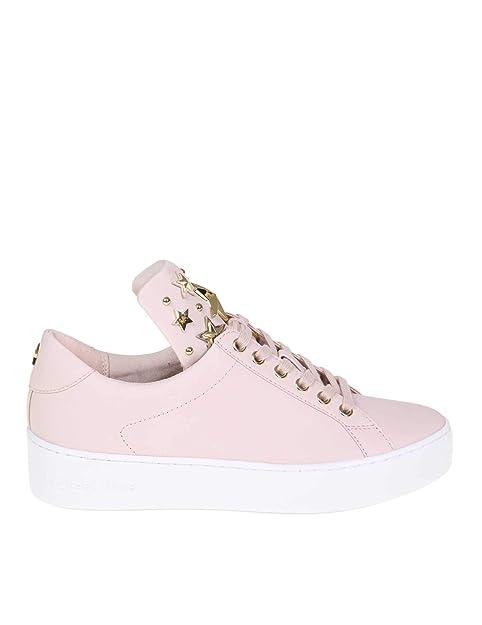 Michael By Michael Kors Mujer 43R9MNFS6L187 Rosa Cuero Zapatillas: Amazon.es: Zapatos y complementos