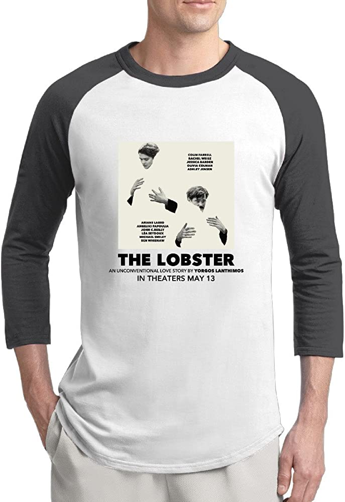 THE LOBSTER Movie 2016 Mens Artist 100% Cotton 3/4 Sleeve Athletic Baseball Raglan Sleeves T-Shirt