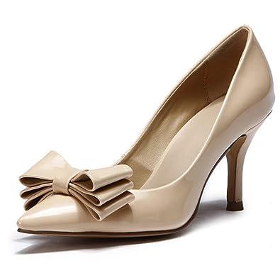 L YC Chaussures de Mariage pour Femmes Chaussures de Talon à Talons Haut de Gamme Robe de MariéE en Satin Robe de SoiréE Et SoiréE, White, 40