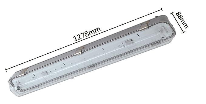 Plafoniere Per Neon : Plafoniera stagna per neon lineari t impermeabile ip
