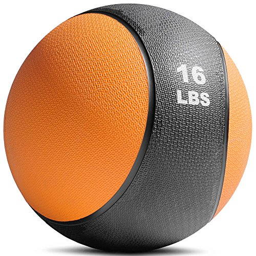 Titan Fitness Weighted Medicine Ball 16lb Rubber Muscle Driver Sport Therapy WOD