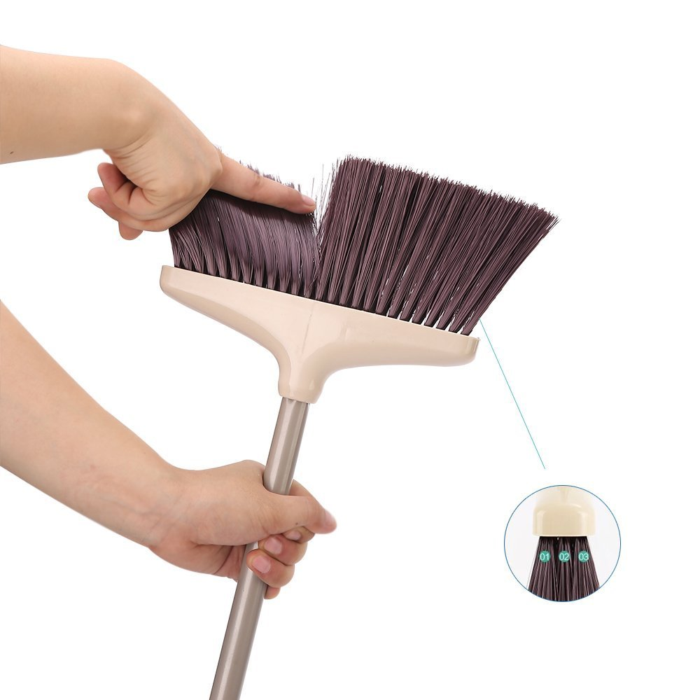 SANGFOR Broom and Dustpan Set Long Handle Dustpan and Lobby Broom Combo Upright Grips Sweep Set with Broom by SANGFOR (Image #4)