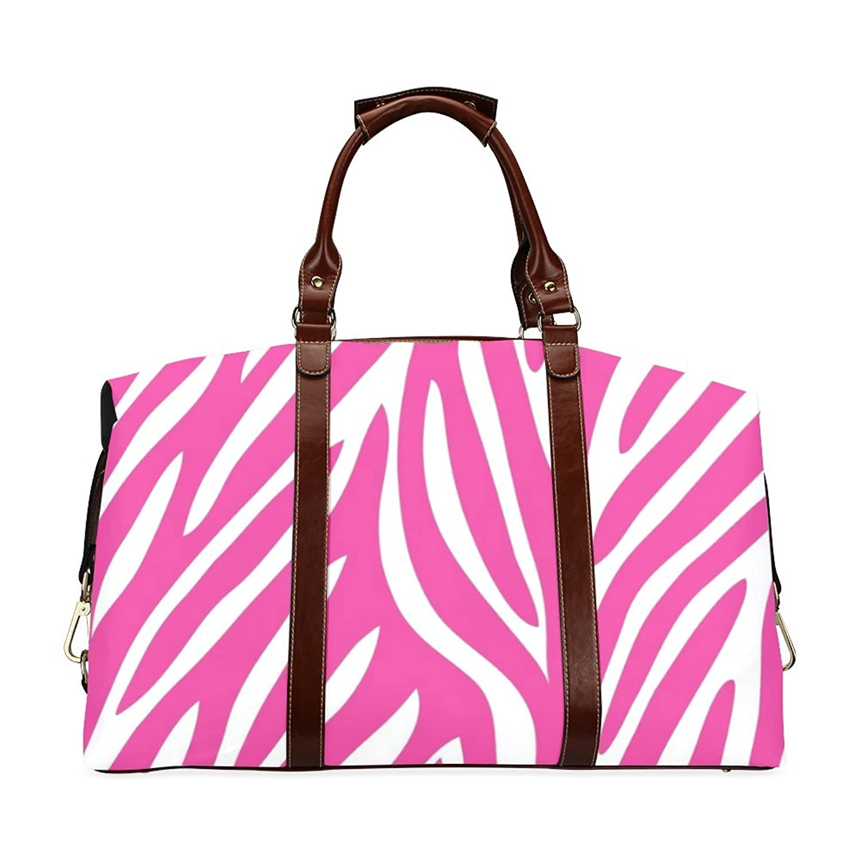Pink Zebra Custom Waterproof Fabric Two-sided Printing Flight Bag