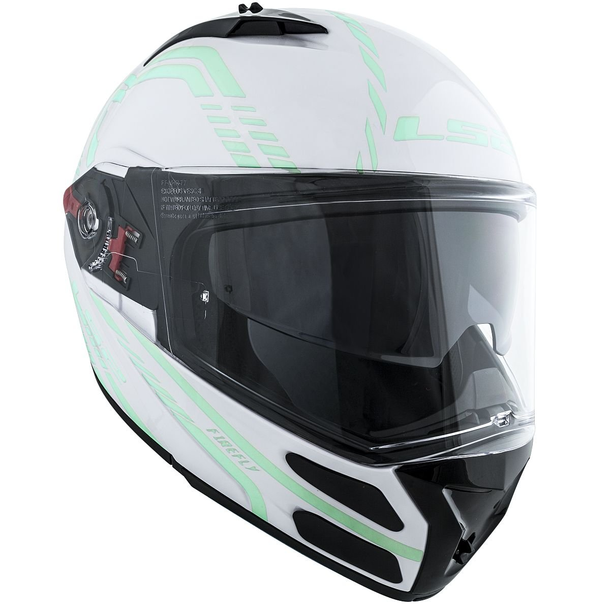 Amazon.com: LS2 Helmets Metro Firefly Modular Motorcycle Helmet with Sunshield (White, X-Small): Automotive