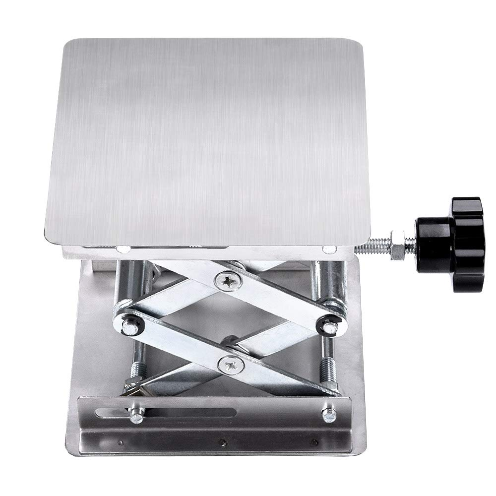 Suteck 4x4 Inch Lab Jack Scientific Lab Jack Aluminum Lab Lifting Platform Stand Rack Scissor Lab-Lift Lifter