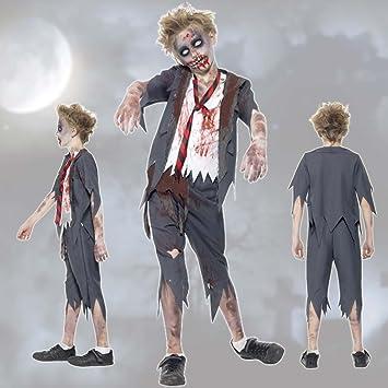 NET TOYS Traje niño Zombie Estudiante Muerto Viviente T 158/164 cm ...