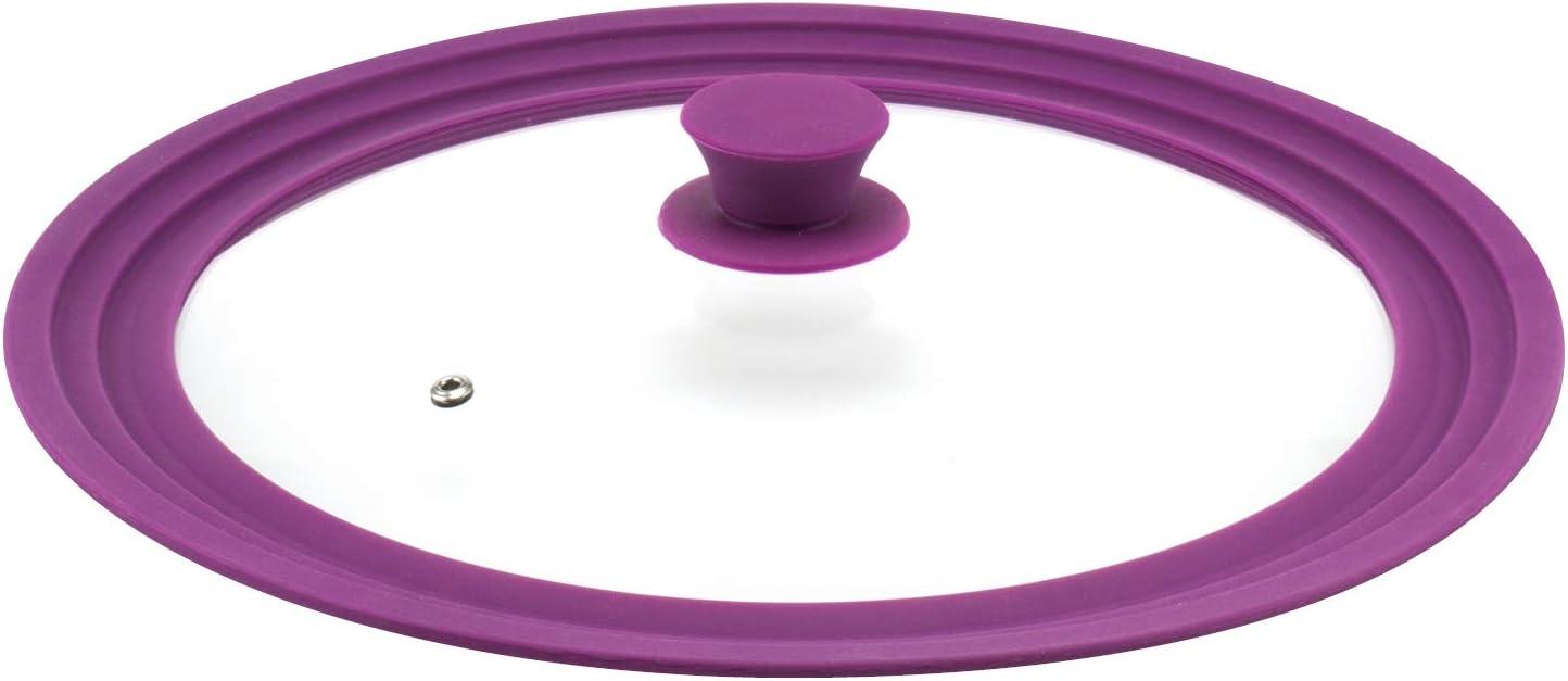 Viola bremermann/® coperchio universale con bordo in silicone grande 30//32//34 cm