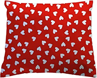 product image for SheetWorld Crib Toddler Pillow Case, 100% Cotton Woven, Primary Hearts Collection, 13 x 17, Made in USA