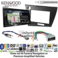 Volunteer Audio Kenwood Excelon DNX694S Double Din Radio Install Kit with GPS Navigation System Android Auto Apple CarPlay Fits 2012 Honda Civic (Dark Grey Satin)