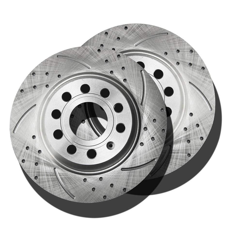 Rotors Ceramic Pads R OE Replacement 2010 VW Passat CC w//282mm Diameter