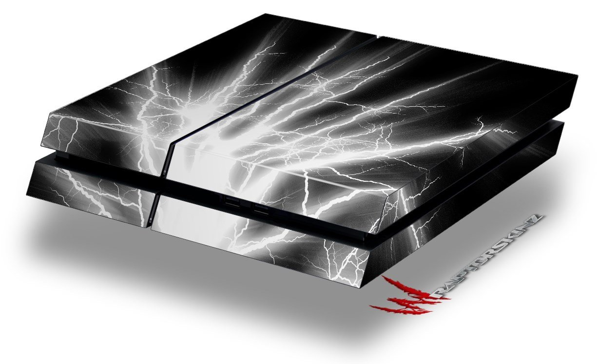 Lightning White - Decal Style Skin fits original PS4 Gaming Console