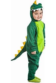 Guirca-83237 Disfraz 5-6 años Dinosaurio, Color Verde/Amarillo ...