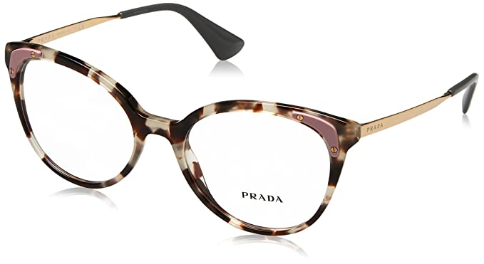 9f7d3aaece66 Eyeglasses Prada PR 12 UV UAO1O1 SPOTTED OPAL BROWN  Amazon.co.uk  Clothing