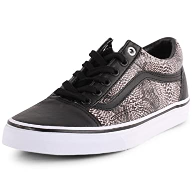 Amazon.com  Vans Old Skool (Snake) Black Khaki Mens 7  Clothing d66b394cfe