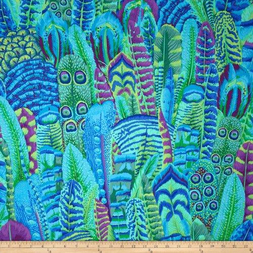 Kaffe Fassett Feathers Green Fabric By The Yard