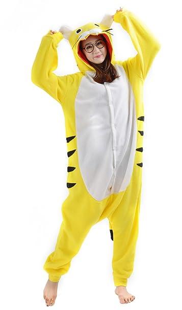 Cosplay Animales Pijamas Mujer Invierno Novedad Navidad Traje Disfraz Adulto Tigre Amarillo