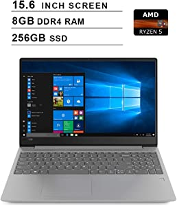 2020 Newest Lenovo Ideapad 330s 15.6 Inch Laptop (AMD Quad-Core Ryzen 5 2500U up to 3.6GHz, 8GB DDR4 RAM, 256GB SSD, AMD Radeon Vega 8, WiFi, Bluetooth, HDMI, Webcam, Windows 10 Home) (Grey)