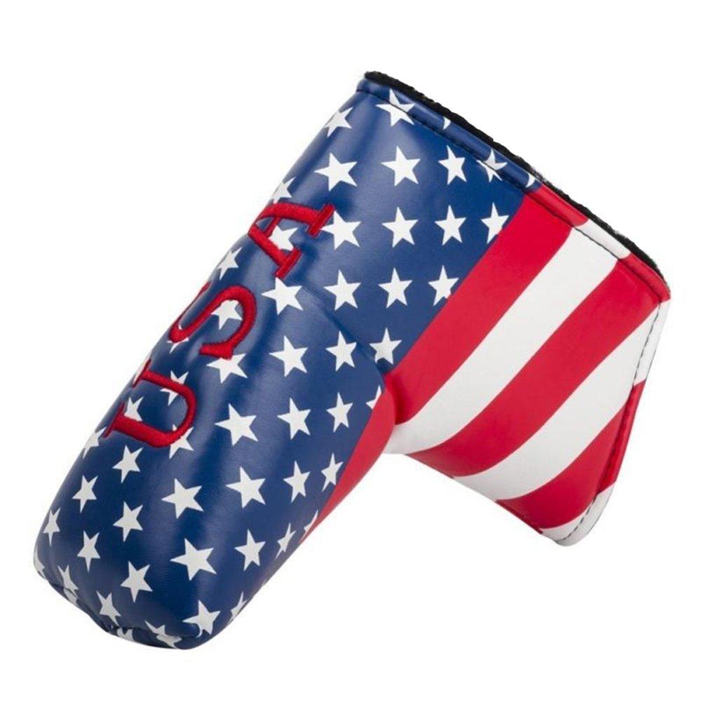 dbyan BladeゴルフAmerican USA Stars & Stripes Flagゴルフパターヘッドカバーヘッドカバーfor Scotty Cameron Taylormade Ping Titleist Odyssey B078TJRRB5